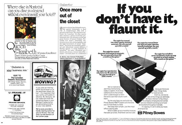 Article Preview: Once more out of the closet, November 1978 | Maclean's
