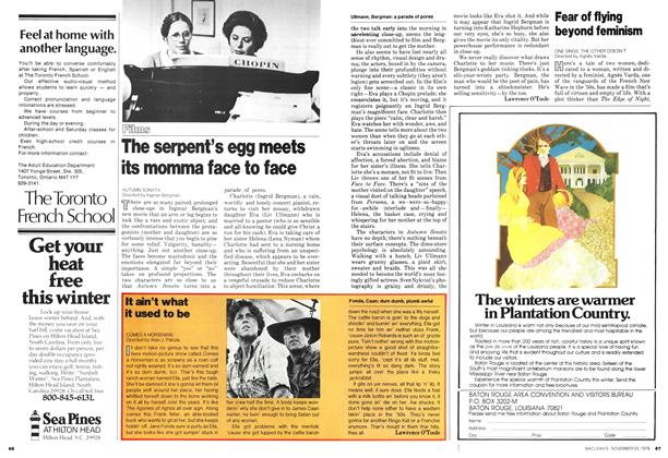 Article Preview: Fear of flying beyond feminism, November 1978 | Maclean's