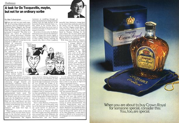 Article Preview: A task for De Tocqueville, maybe, but not for an ordinary scribe, November 1978   Maclean's