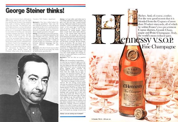 Article Preview: George Steiner thinks!, November 1978 | Maclean's