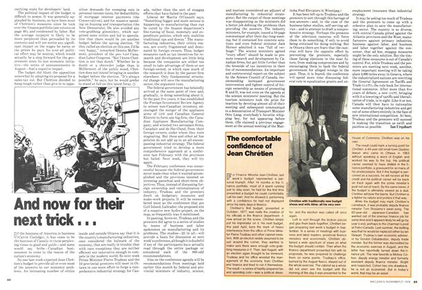 Article Preview: And now for their next trick, November 1978 | Maclean's
