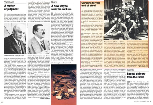 Article Preview: A matter of judgment, November 1978 | Maclean's