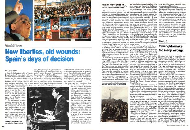 Article Preview: New liberties, old wounds: Spain's days of decision, November 1978 | Maclean's