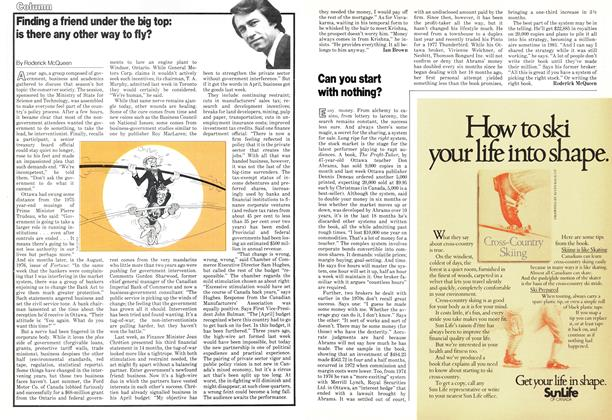 Article Preview: Finding a friend under the big top: is there any other way to fly?, November 1978 | Maclean's