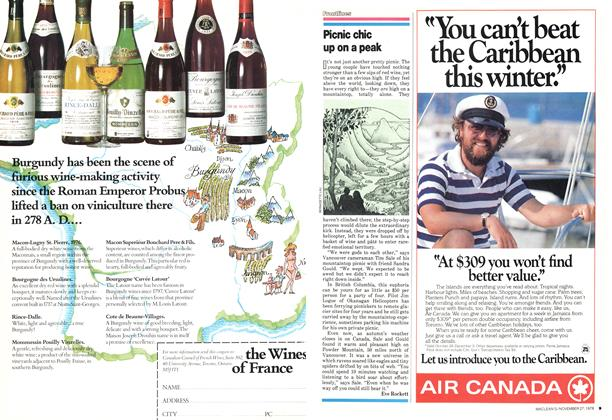 Article Preview: Picnic chic up on a peak, November 1978 | Maclean's