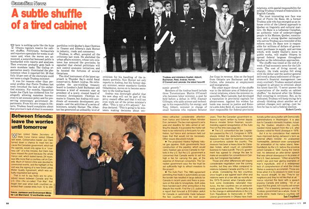 Article Preview: A subtle shuffle of a tired cabinet, December 1978 | Maclean's