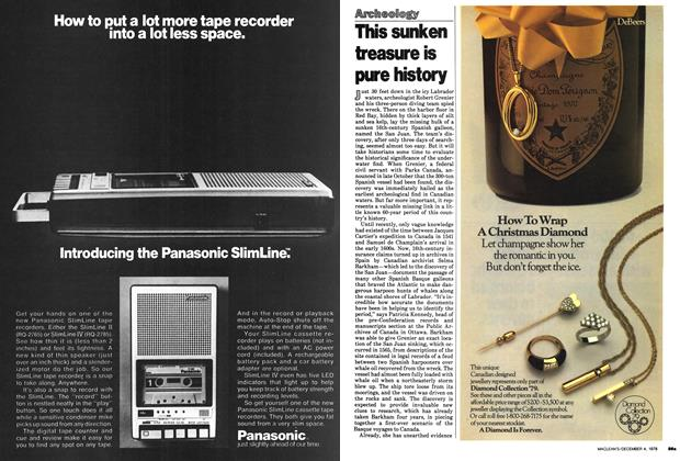 Article Preview: This sunken treasure is pure history, December 1978 | Maclean's