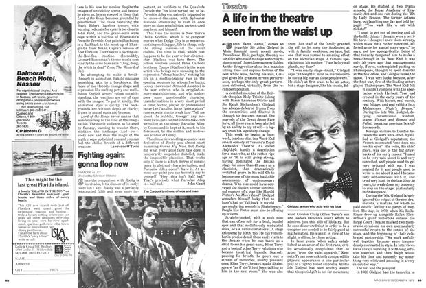 Article Preview: A life in the theatre seen from the waist up, December 1978 | Maclean's
