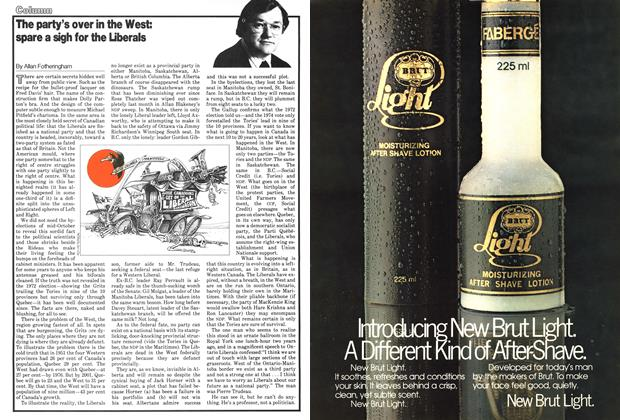 Article Preview: The party's over in the West: spare a sigh for the Liberals, December 1978 | Maclean's