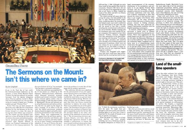 Article Preview: The Sermons on the Mount: isn't this where we came in?, December 1978 | Maclean's