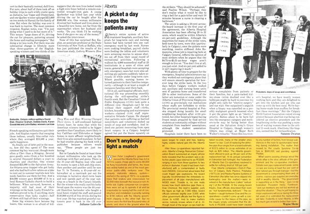 Article Preview: A picket a day keeps the patients away, December 1978 | Maclean's