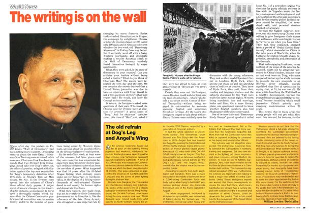 Article Preview: The writing is on the wall, December 1978 | Maclean's