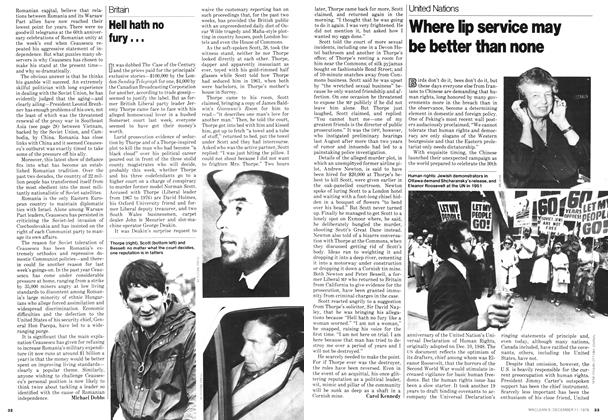 Article Preview: Where lip service may be better than none, December 1978   Maclean's