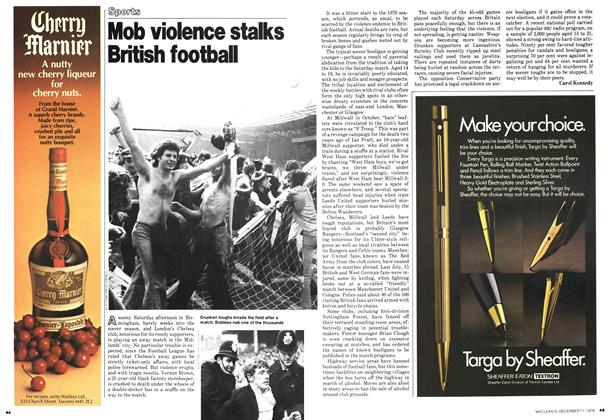 Article Preview: Mob violence stalks British football, December 1978 | Maclean's