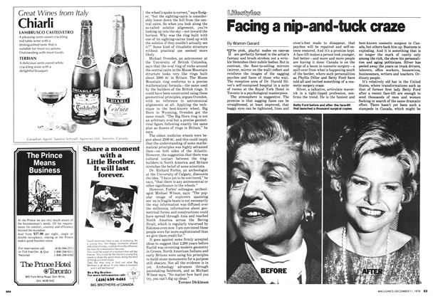 Article Preview: Facing a nip-and-tuck craze, December 1978 | Maclean's