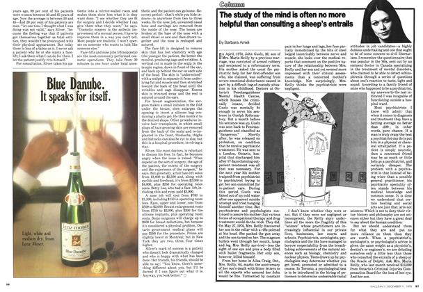 Article Preview: The study of the mind is often no more helpful than consulting a sheep's entrails, December 1978 | Maclean's
