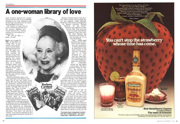 Article Preview: A one-woman library of love, December 1978 | Maclean's