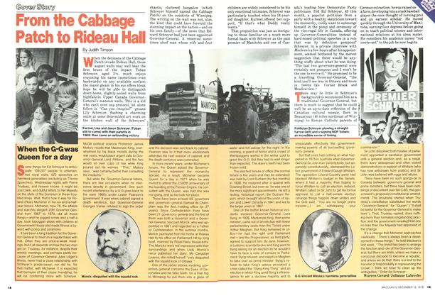 Article Preview: From the Cabbage Patch to Rideau Hall, DECEMBER 1978 | Maclean's