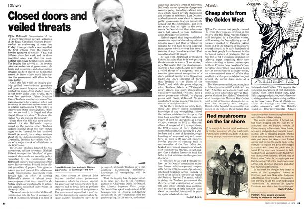 Article Preview: Closed doors and veiled threats, DECEMBER 1978 | Maclean's