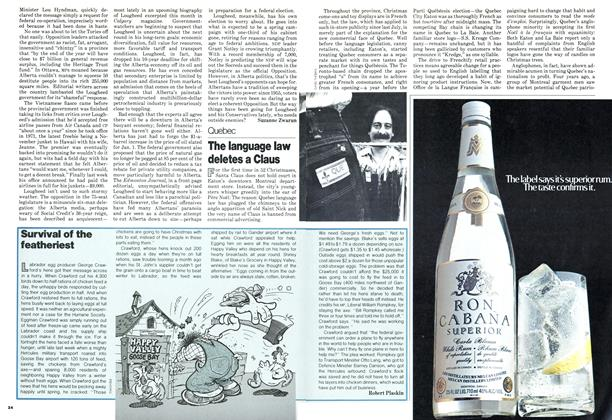 Article Preview: The language law deletes a Claus, DECEMBER 1978   Maclean's