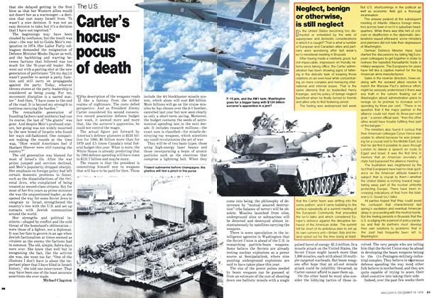 Article Preview: Carter's hocuspocus of death, DECEMBER 1978 | Maclean's