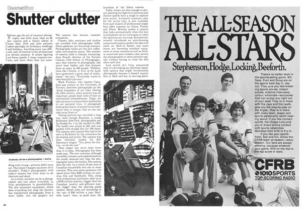 Article Preview: Shutter clutter, DECEMBER 1978 | Maclean's