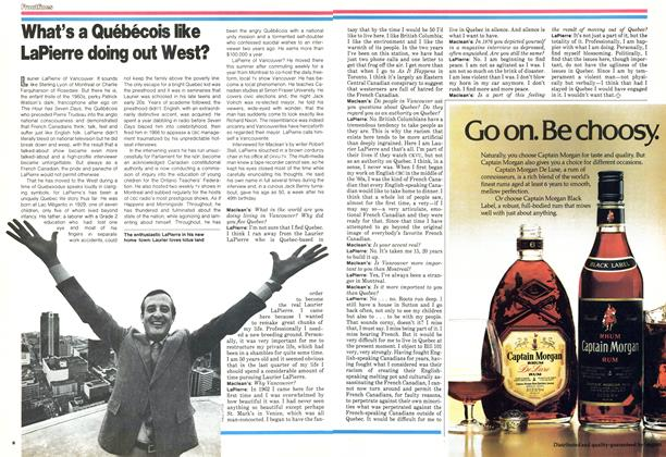Article Preview: What's a Québécois like LaPierre doing out West?, DECEMBER 1978 | Maclean's