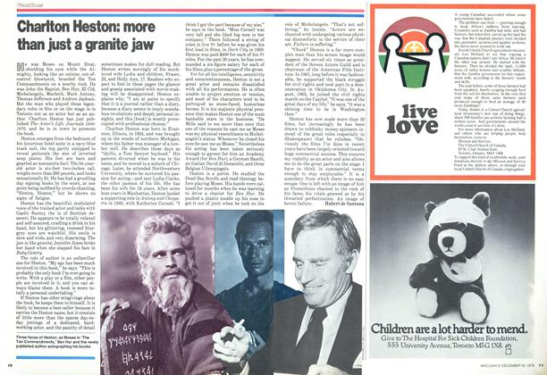Article Preview: Charlton Heston: more than just a granite jaw, DECEMBER 1978 | Maclean's