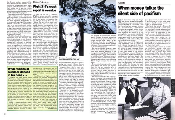 Article Preview: When money talks: the silent side of pacifism, December 1978 | Maclean's