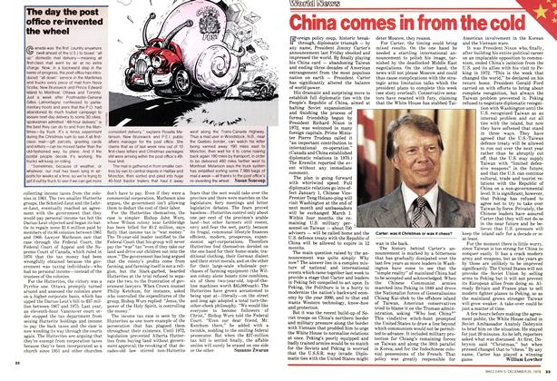 Article Preview: China comes in from the cold, December 1978 | Maclean's