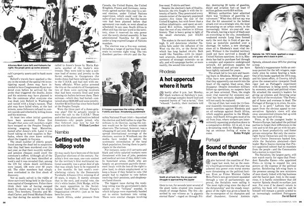 Article Preview: Sound of thunder from the right, December 1978 | Maclean's