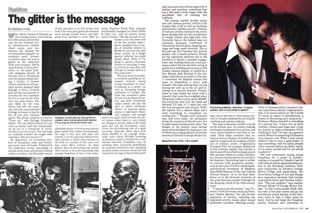 Article Preview: The glitter is the message, December 1978 | Maclean's