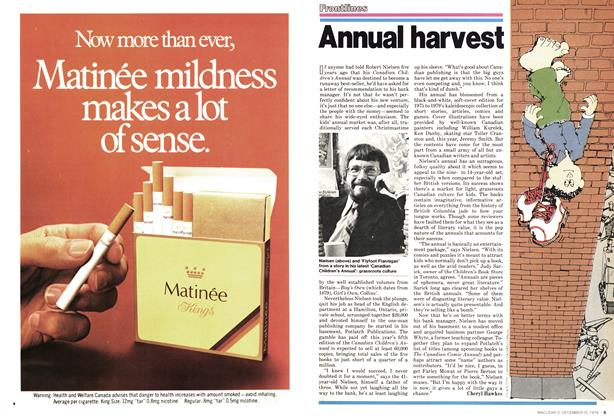 Article Preview: Annual harvest, December 1978 | Maclean's