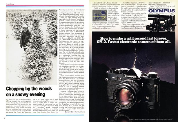Article Preview: Chopping by the woods on a snowy evening, December 1978 | Maclean's