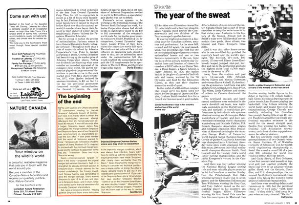 Article Preview: The year of the sweat, January 1979 | Maclean's