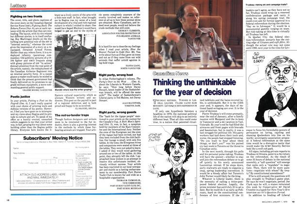 Article Preview: Thinking the unthinkable for the year of decision, January 1979 | Maclean's