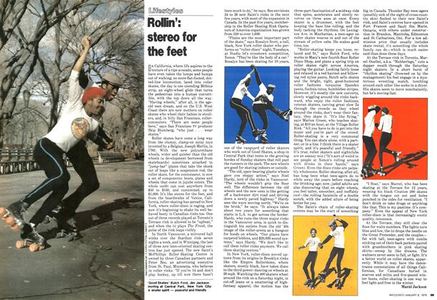 Article Preview: Rollin': stereo for the feet, January 1979 | Maclean's