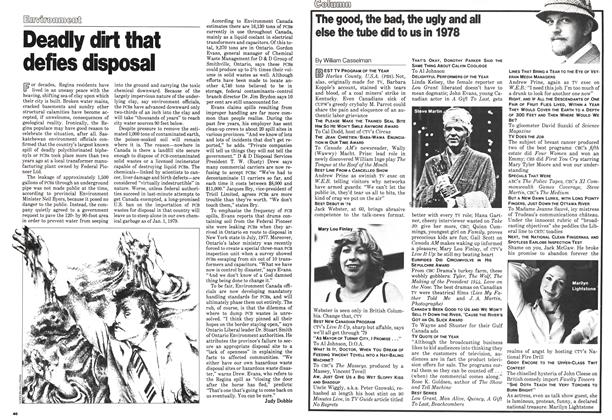 Article Preview: Deadly dirt that defies disposal, January 1979 | Maclean's