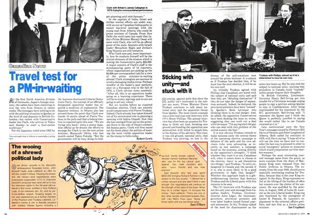 Article Preview: The wooing of a shrewd political lady, January 1979 | Maclean's