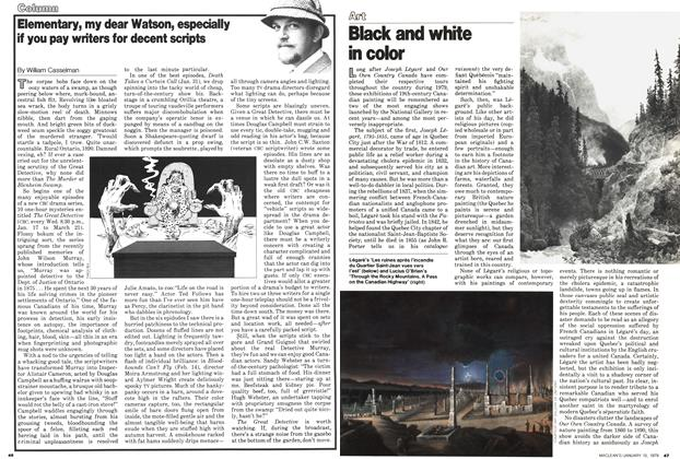 Article Preview: Elementary, my dear Watson, especially if you pay writers for decent scripts, ANUARY 15, 1979 1979 | Maclean's