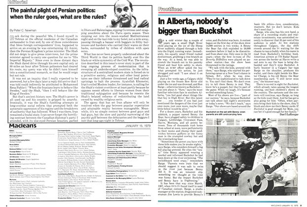 Article Preview: The painful plight of Persian politics: when the ruler goes, what are the rules?, ANUARY 15, 1979 1979 | Maclean's