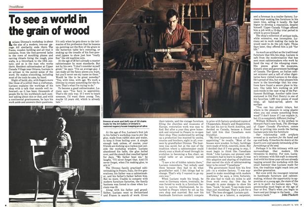 Article Preview: To see a world in the grain of wood, ANUARY 15, 1979 1979 | Maclean's