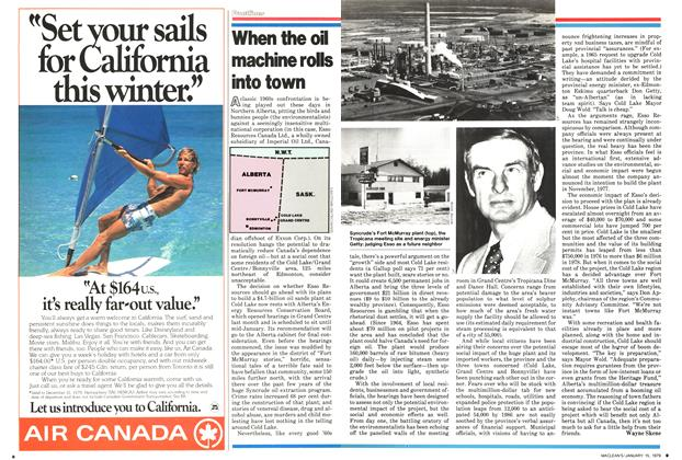Article Preview: When the oil machine rolls into town, ANUARY 15, 1979 1979 | Maclean's
