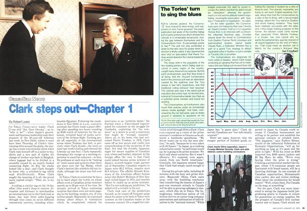 Article Preview: Clark steps out—Chapter 1, January 1979 | Maclean's