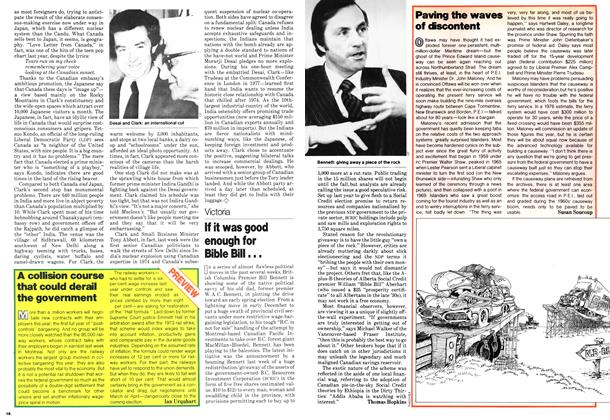 Article Preview: A collision course that could derail the government, January 1979 | Maclean's