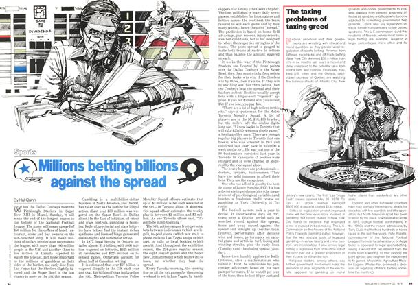 Article Preview: Millions betting billions Q against the spread, January 1979 | Maclean's