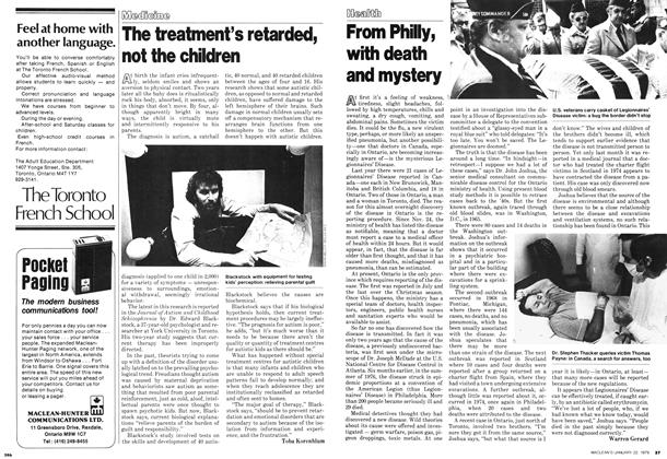 Article Preview: From Philly, with death and mystery, January 1979 | Maclean's