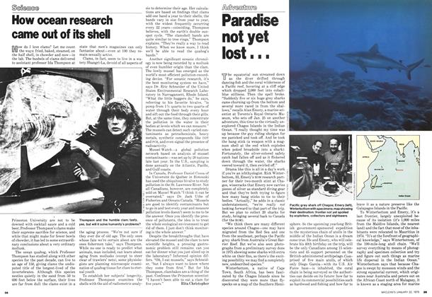 Article Preview: How ocean research came out of its shell, January 1979 | Maclean's