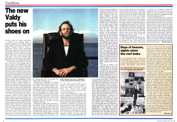 Article Preview: The new Valdy puts his shoes on, January 1979 | Maclean's