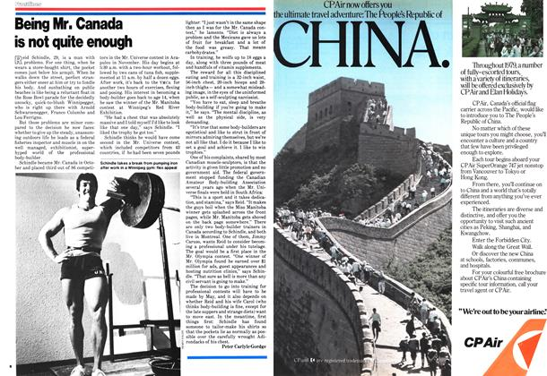 Article Preview: Being Mr. Canada is not quite enough, January 1979 | Maclean's